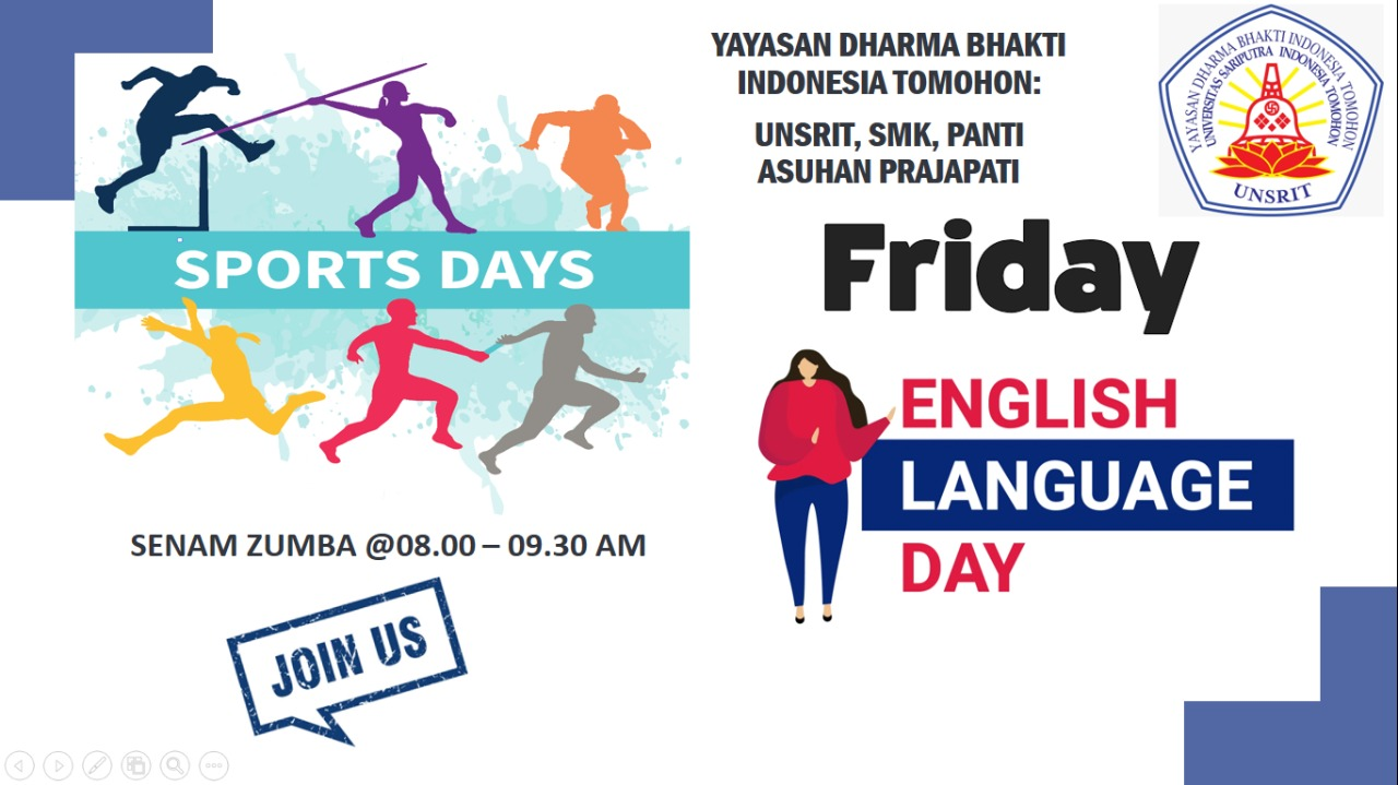 FRIDAY is ENGLISH DAY